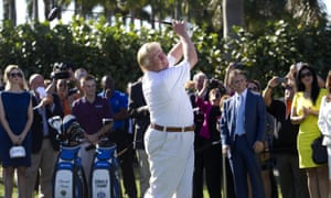 'The sport has always been contentious': Donald Trump on the golf course.