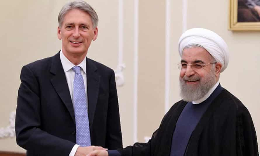 Philip Hammond meets the Iranian president, Hassan Rouhani, in Tehran on 24 August.