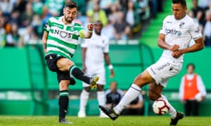 Sporting Lisbon's Bruno Fernandes (left) has scored 19 goals in all competitions from midfield.