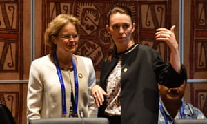 Frances Adamson with Jacinda Ardern