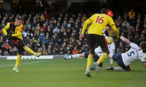 A penalty is awarded to Watford after Tottenham Hotspur's Jan Vertonghen's handball.