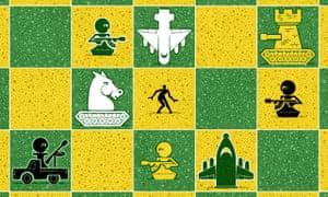 Syria chessboard illo by Matt Kenyon