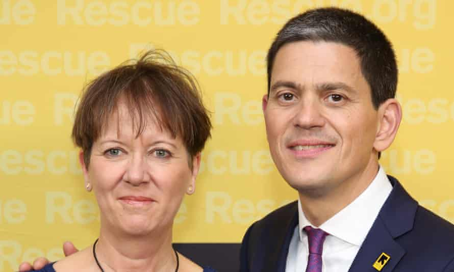 David Miliband with his wife, Louise Shackelton.