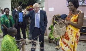 Boris Johnson gives some Ghanaians the benefit of his opinions in 2017.