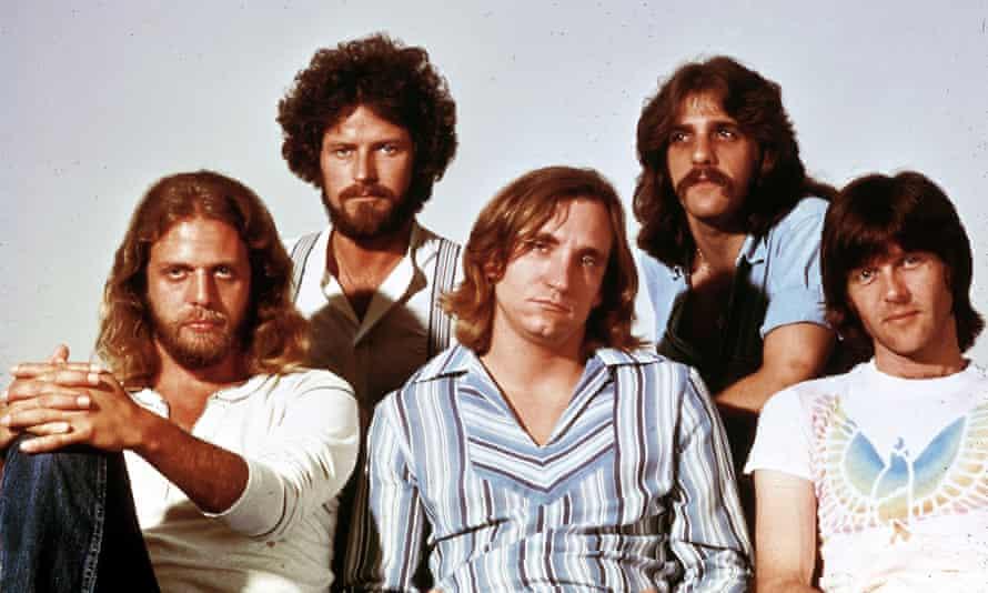 The Eagles, L-R: Don Felder, Don Henley, Joe Walsh, Glenn Frey and Randy Meisner.