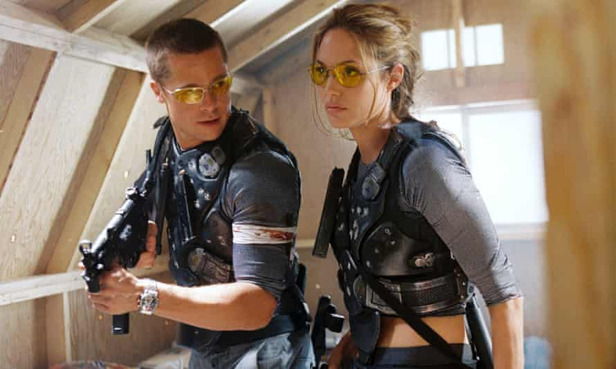 Spousenemies … Pitt and Jolie in Mr and Mrs Smith.