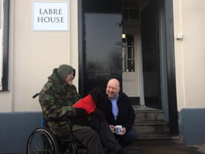 Mayor Joe Anderson at Labre House, a shelter which is open every night from 8pm to 8am.