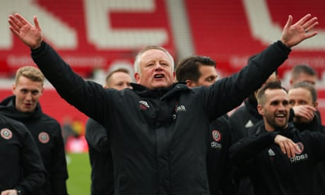 Sheffield United's Chris Wilder beats Pep Guardiola to LMA manager of the year