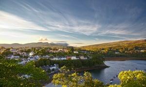 view on Portree, Isle of Skye, Scotland.