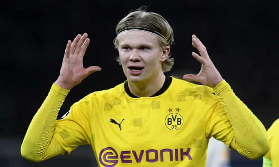Erling Haaland has scored 39 goals for Borussia Dortmund and Norway this season.