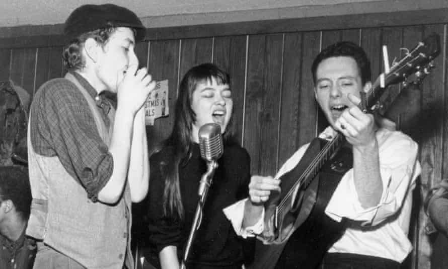 Dalton with Bob Dylan and Fred Neil.