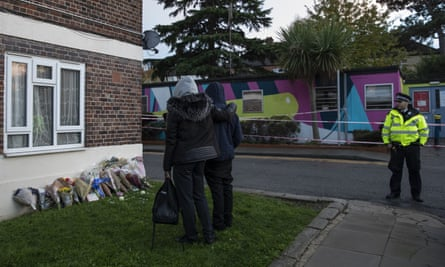 The site of a murder in Tulse Hill, south London on 5 November.