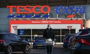 A Tesco Extra supermarket carpark in Wembley.