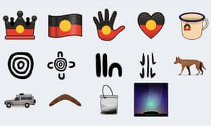 New Indigenous emojis, which are still in the development stage.