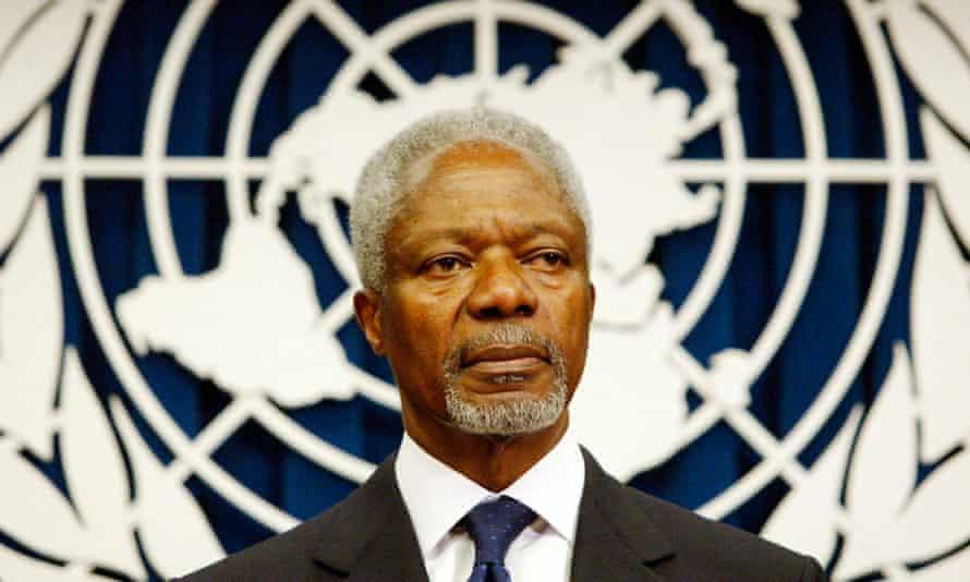 Former UN secretary general Kofi Annan