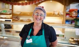 Deb Metcalf in the bakery