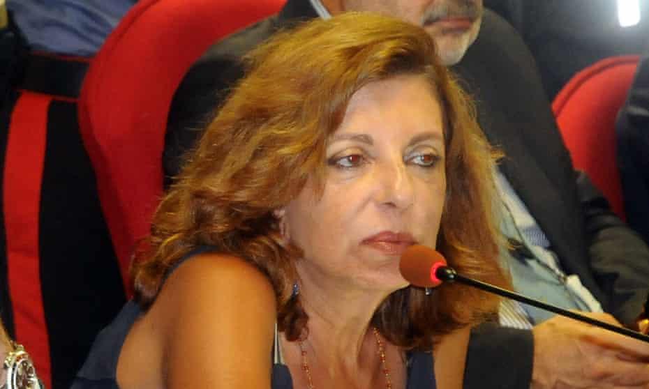 Italian prosecutor Maria Teresa Principato at a press conference in Palermo, Italy, on Monday.