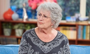 Germaine Greer on the sofa of the TV show This Morning on ITV