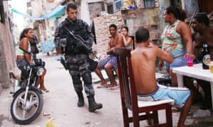 Favelas are often flooded with police.