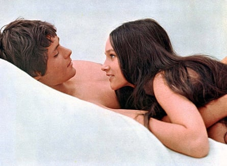 Sweet sorrow: Leonard Whiting and Hussey in Romeo and Juliet.