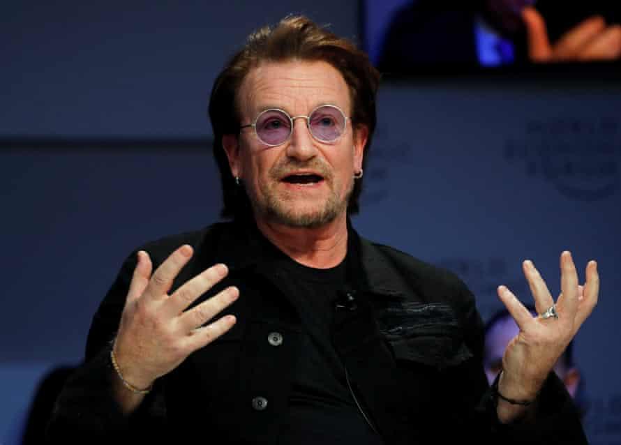 Bono speaking in Davos