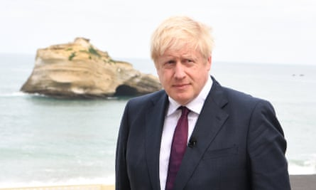Boris Johnson at the G7 summit in Biarritz, France.