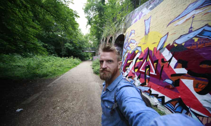Dan Raven-Ellison on one of his urban routes, by railway arches