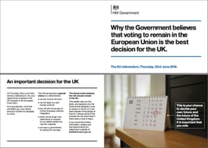 Pages from the government produced leaflet.