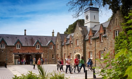 The stable block courtyard at Swansea's singleton campus.