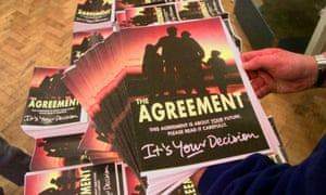 Copies of the Good Friday agreement, April 1998.