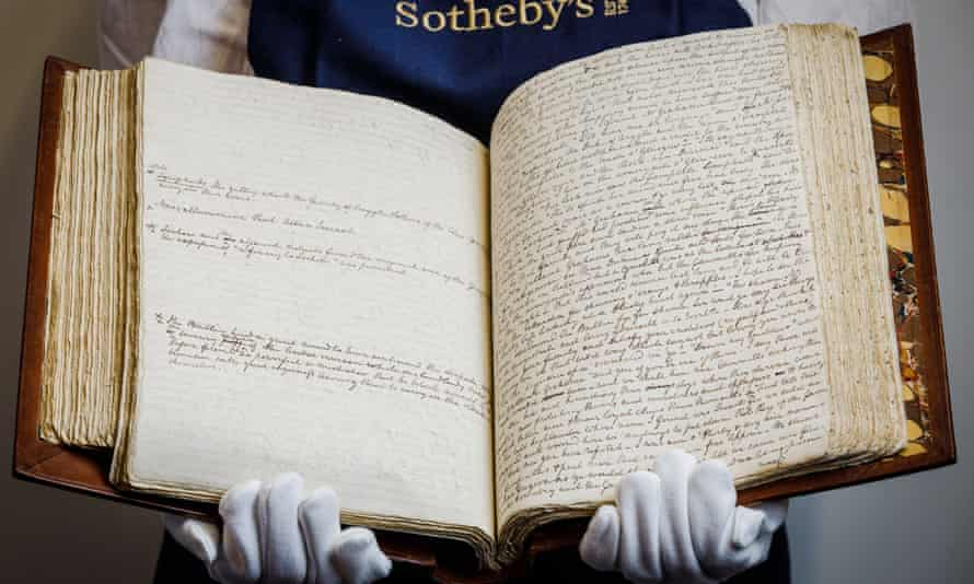 The complete working autograph manuscript of Scott's novel Rob Roy. from the Honresfield Library. It is the only Scott novel manuscript in private hands.
