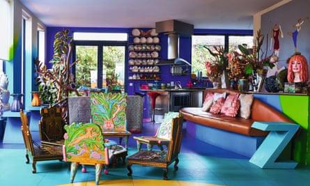 Zandra Rhodes's colourful London home.