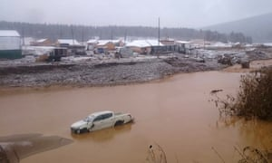 The miners' camp near Krasnoyarsk after the dam collapsed