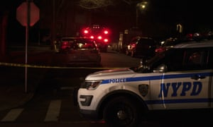 New York police department and New York City fire department respond to a report of shots fired in the Todt Hill section of Staten Island.