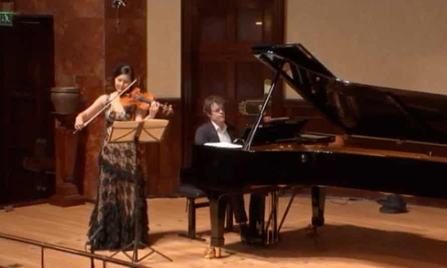 No empty hall could sound more still ... violinist Hyeyoon Park and pianist Benjamin Grosvenor.