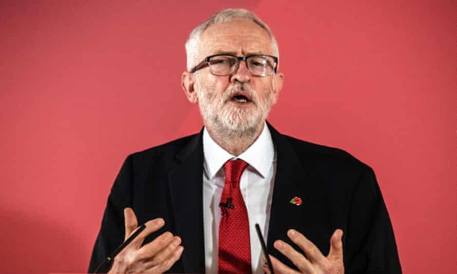 Labour leader Jeremy Corbyn speaking today in his home county of Shropshire.