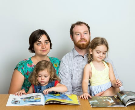 Erin and Myles Elton with daughters Norah and Lucy