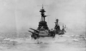 British ships in the Battle of Jutland on 31 May 1916. Both sides claimed the battle as a victory.