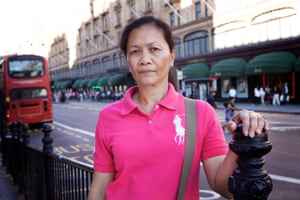 Elvira, 50, trafficked from the Philippines into domestic slavery in the UK