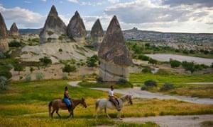 Horse riding in Cappadocia, Turkey.