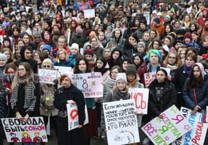 A rally for women's solidarity and women's rights, organized by the group of activists We Are Khachaturyan Sisters in Sokolniki Hyde Park