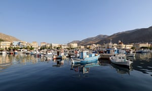 Pothia, the capital of Kalymnos, Greece