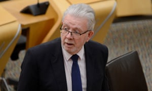 Mike Russell in the Scottish parliament.