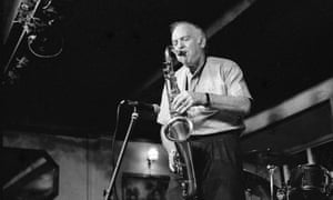 Duncan Lamont on stage at the Watermill jazz club, Dorking, August 2000.