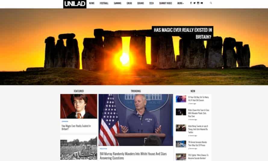 The Unilad website