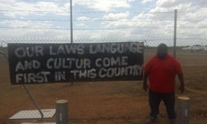Garrwa and Yanyuwa man Gadrian Hoosan with a message for Tony Abbott.