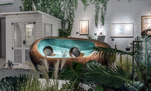 Stage set … Barbara Hepworth's Formed from Nature at the Dickinson gallery's 'seaside garden' stand.