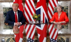 US President Donald Trump and Theresa May at Chequers in Buckinghamshire