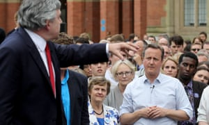 Gordon Brown told people that Britain was better than the divisive referendum debate.