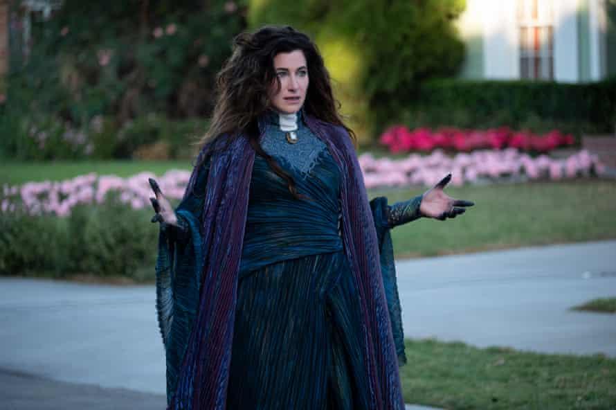 Kathryn Hahn as Agatha Harkness in WandaVision.